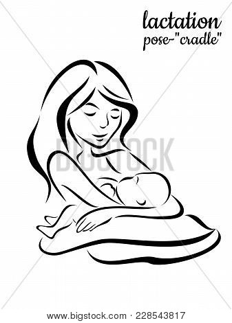 Mom With Baby Feeding Breast Posture Cradle Maternity Female Health Lactation Advice Recommendation