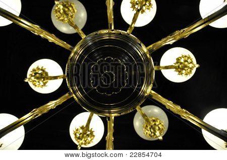 Lamp White Black Golden Old 1