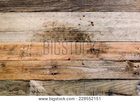 Rough Grained Textured Wood Background.  Colorful Rugged Weathered Pallet Wood Wall.