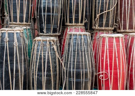 Background Of Nepali Drums