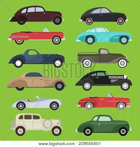 Old Vintage Retro Vector Old Style Car Vehicle Automobile Exclusive Sport Transport Antique Garage C