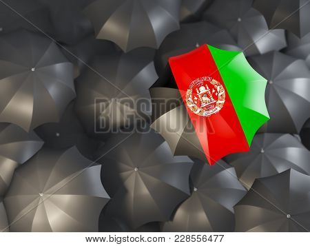 Umbrella With Flag Of Afghanistan