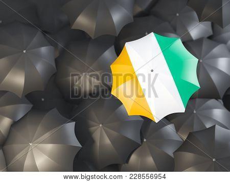 Umbrella With Flag Of Cote D'ivoire