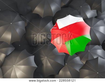 Umbrella With Flag Of Oman