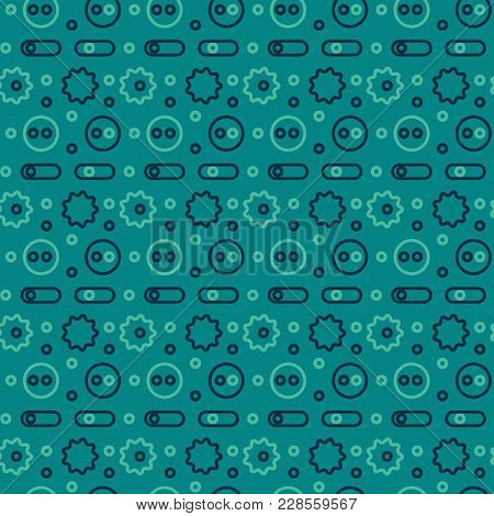Machine Gone Mad Seamless Pattern. Creative Design For Various Backgrounds.