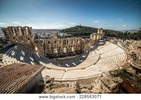 Theater Of Herodes Atticus, Acropolis Of Athens, Greece