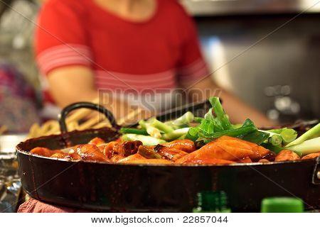 Cooking Tteokbokki (korean Traditional Dish)
