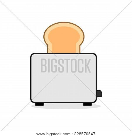 Kitchen Bread Toaster Vector Illustration Graphic Design