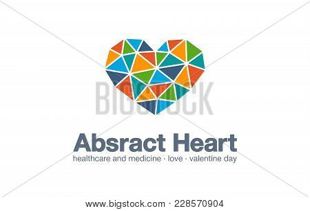 Abstract Business Company Logo. Corporate Identity Design Element. Healthcare And Medicine, Red Hear