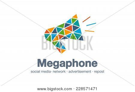 Abstract Business Company Logo. Corporate Identity Design Element. Digital Market, Network Message,
