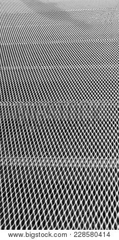 Abstract Texture Background Of A Grid Metal Surface