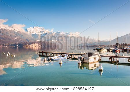 Annecy Lake In French Alps. Beautiful Landscape