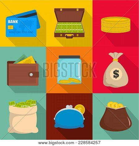 Lucrative Icons Set. Flat Set Of 9 Lucrative Vector Icons For Web Isolated On White Background