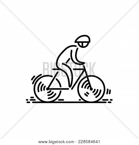 Bicycle. Bike Icon Vector. Cycling Thin Line Icon