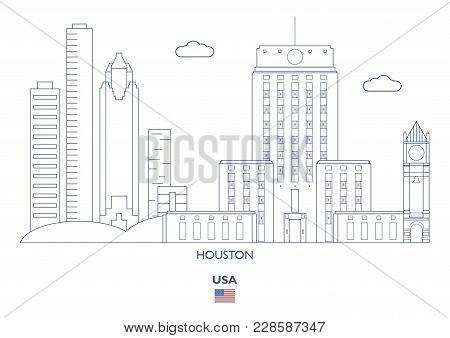 Houston Linear City Skyline, Usaю Famous Places