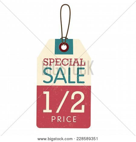 Price Tag Special Sale 1/2 Price Vector Image Design