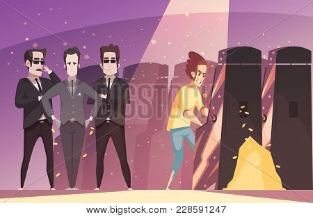 Gambling Vector Illustration With Addicted Teen Gamer Playing On Jackpot Slot Gaming Machine