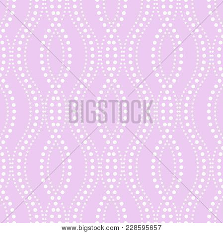 Abstract Geometric Pattern Of The Points, Lines. A Seamless Vector Background. Graphic Purple And Wh