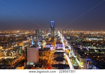 Riyadh skyline at night #1, Saudi Arabia Capital City
