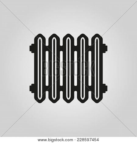 Radiator Icon. Heater And Heating, Heat Symbol. Flat Design. Stock - Vector Illustration