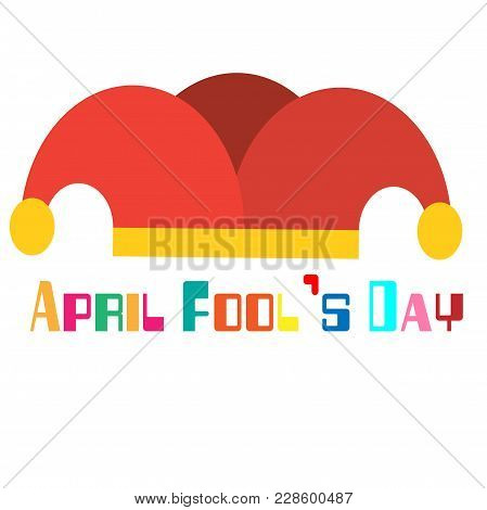 April Fools Day A Jester Hat Background Vector Image
