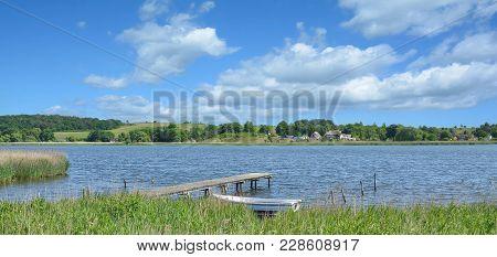 Lake Neuensiener See Near Sellin On Ruegen,baltic Sea,mecklenburg Western Pomerania,germany