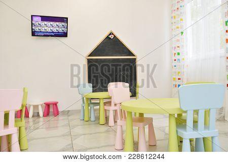 Table For Children In Kindergarten.