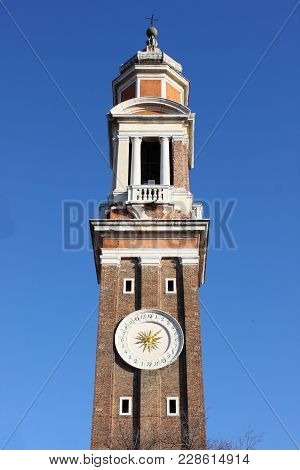 Bell Tower Of Church Of The Holy Apostles In Venice, Italy
