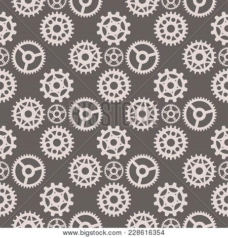 Gear Vector Illustration Mechanics Gearing Web Development Shape Work Cog Seamless Pattern Backgroun