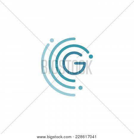 Circle G Letter Logo Design Vector Illustration Template. Future Logo Concept Design. Vector Illustr