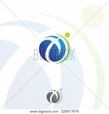 Technology Orbit Web Rings For Education Logo Design. Vector Circle Ring Logo Design. Abstract Circl