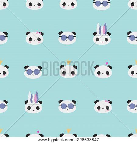Kawaii Panda Bear Pattern