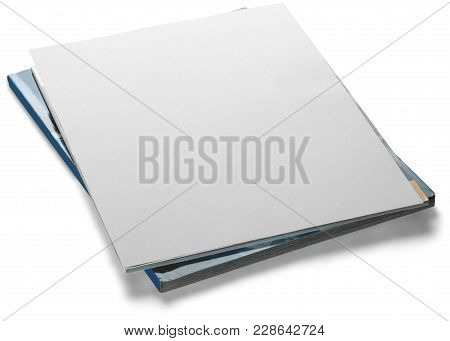 Stack Blank Papers Magazines Periodicals Blank Cover Magazine