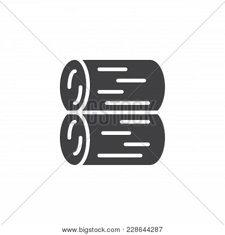 Stack Of Logs Vector Icon. Filled Flat Sign For Mobile Concept And Web Design. Logs Of Fire Simple S