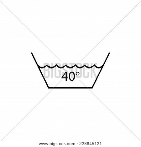 Wash At A Temperature Not Exceeding 40 C. Washing Is Allowed. Warning Mark Care For Textile, Tissue,