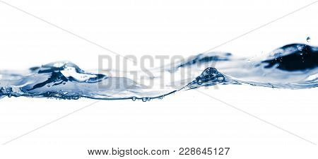 Water Smooth With Waves On The Isolated On White Background .