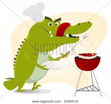 Cartoon krokodil Bbq