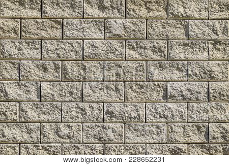 Background From The Wall Of White Brick. Yellow Beige Brick. Brick Texture. Building Background. Sma