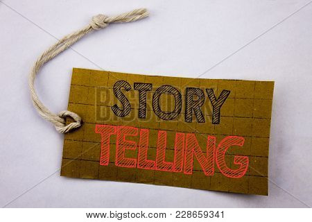 Handwriting Announcement Text Showing Storytelling. Business Concept For Online Sale Teller Story Me