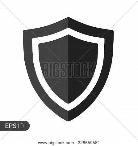 Abstract Security Vector Icon Illustration Isolated On White Background. Shield Security Icon. Lock
