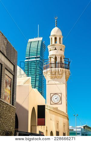 Yateem Mosque In The Old Town Of Manama, The Kingdom Of Bahrain