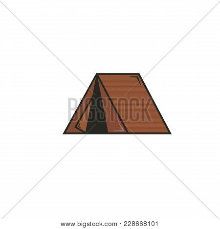 Tent Flat Icon Concept. Stock Vector Pictogram Illustration Isolated On White Background.