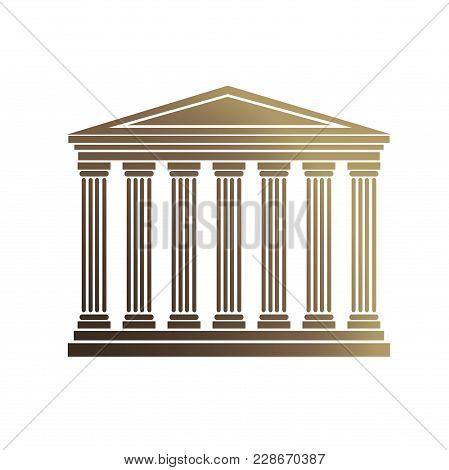 Design Element Symbol Judicial Building Legal Icon Law Theme01