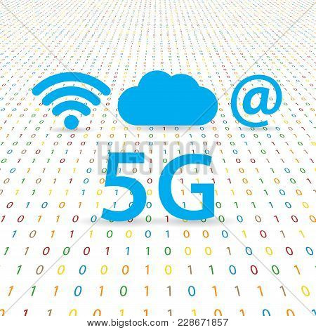 5g Speed Wireless Internet Network. Vector Illustration .