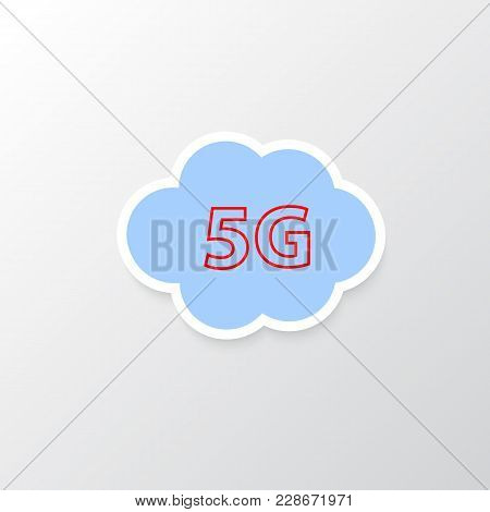 5g Cloud Wireless Internet Connection. Vector Illustration .