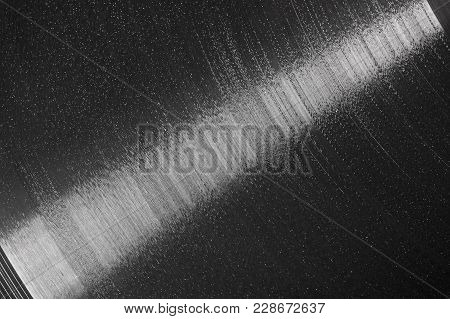 Record Vinyl Plate Texture Background Closeup, Macro