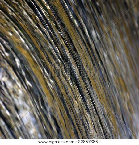 Water Cascade Waterfall Streaming Torrent Splashes Background, Large Detailed Vertical Closeup, Brig