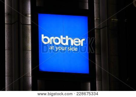 Osaka Japan - 13 November, 2017: Brother Japanese Electronics Company Logo. Brother Is A Japanese Mu