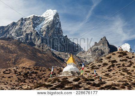 Mountain Scenic While While Trekking Namche To Tengboche