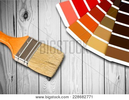 Color Brush Palette Descriptive Background Colorful Design